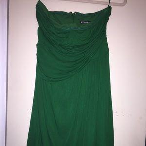 Green strapless express beach dress